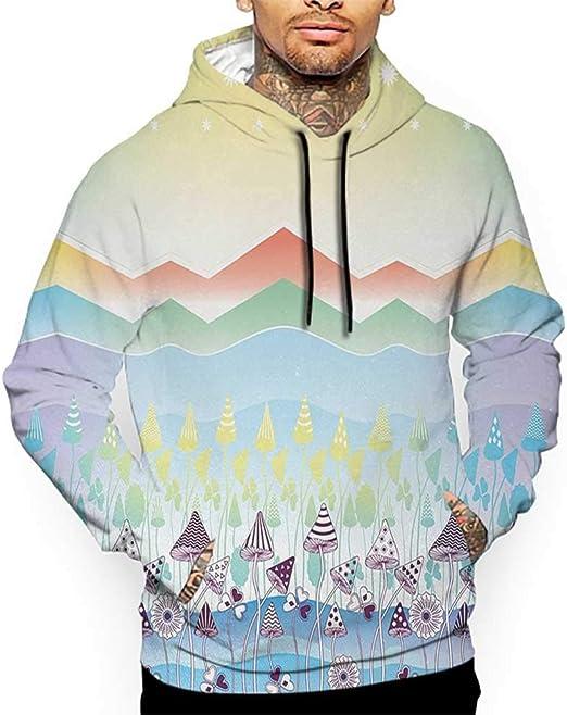 MOOCOM Mens Flower Crewneck Sweatshirt-Unisex
