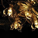 Battery Operated 10FT 3M 30leds Creative Butterfly Decoration LED String Light Fairy Light for Xmas, New Year, Halloween, Valentine (Yellow)