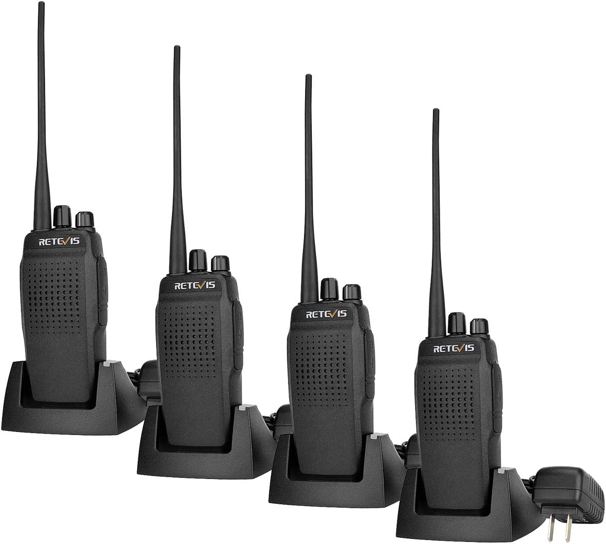 Retevis RT26 Two Way Radios Long Range High Power UHF Radio 2 Way Radios 3000mAh FM VOX Scan Walkie Talkies 4 Pack