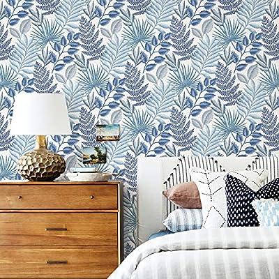 A-Street Prints 2901-87505 Palomas Blue Botanical Wallpaper