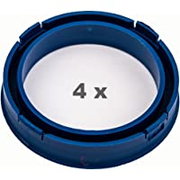 4 x Anillo Central 73.1 mm a 57.1 mm azul/blue