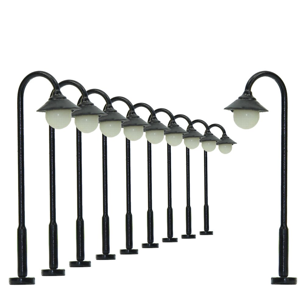 LYM25 10pcs Model Railway Train Lamp Post 3.7cm or 1.46'' Street Lights N TT Scale LEDs New