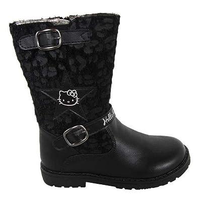 1ddafdd6aa0e7 Hello Kitty Bottes bi matière - Noir - Fille  Amazon.fr  Chaussures ...