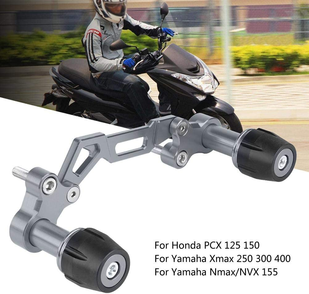 Aluminum Alloy Exhaust Pipe Sliders Falling Titanium Cuque Motorcycle Adjustable Exhauster Protector Sliders Falling Exhaust Guard Falling Protector for Yamaha NVX Nmax Xmax Honda PCX 125 150
