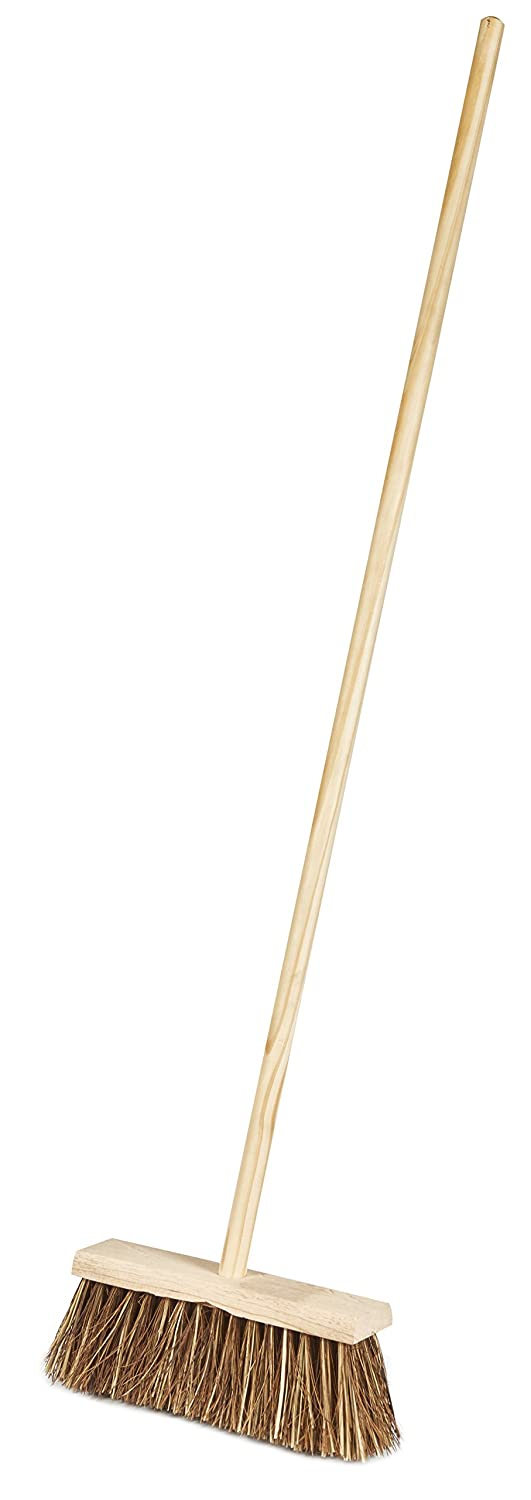 Saddlers Stiff Bass Platform Broom with Fitted Handle, 12-Inch, Pack of 5