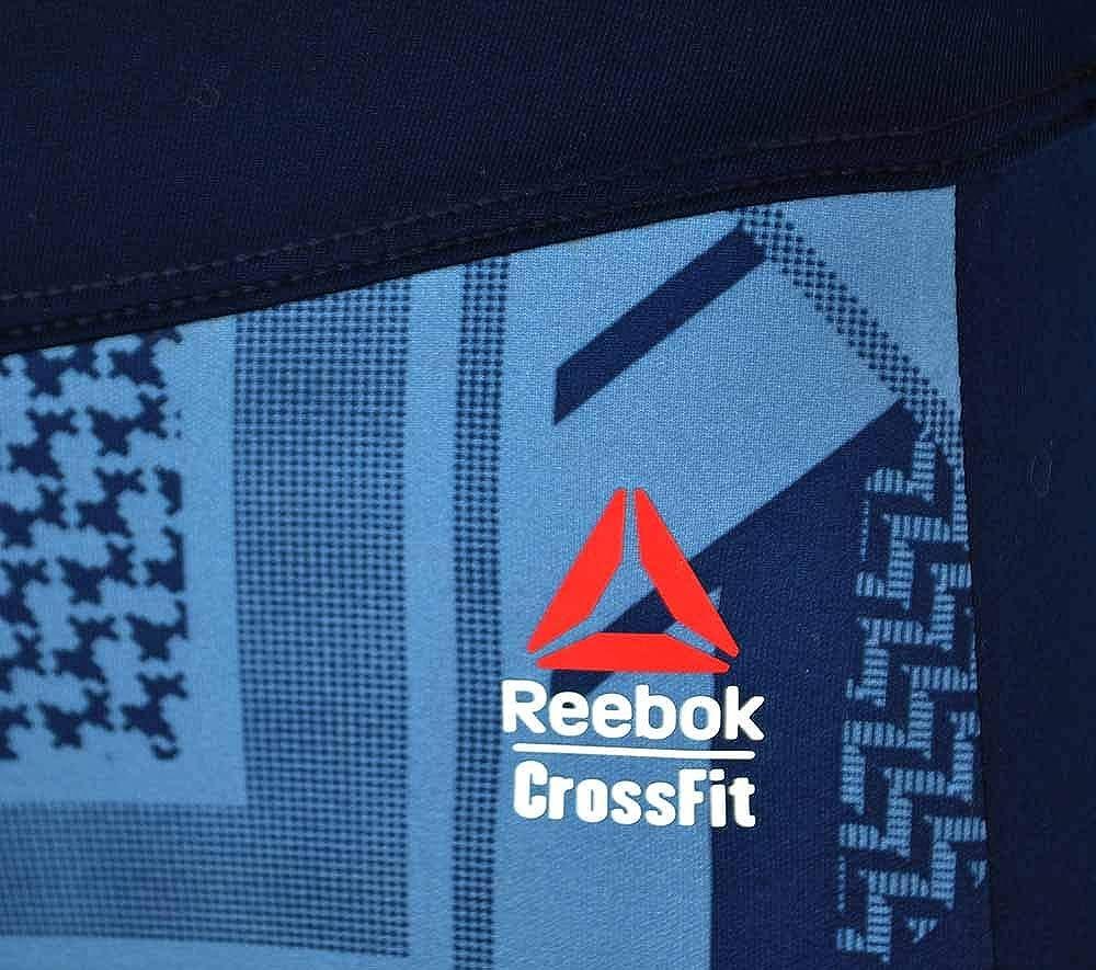Reebok RCF Chase Capri Shemagh Reversible Donna Studio Tight Crossfit Navy
