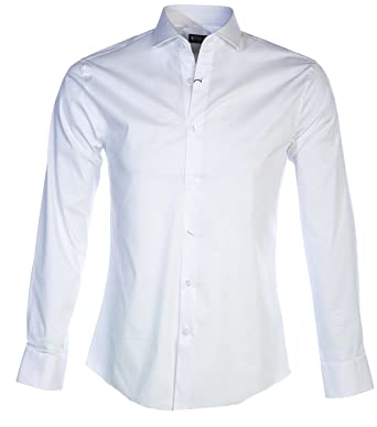 e20ccae88ca Tiger Of Sweden Farrell 5 Shirt in White 42: Amazon.co.uk: Clothing