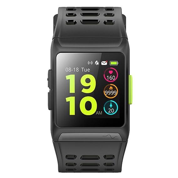 Relojes deportivos inteligentes Bluetooth GPS, Farsler ritmo cardíaco ECG Monitorización Táctil Digital Reloj Inteligente para Hombre, Correr Reloj 50M ...