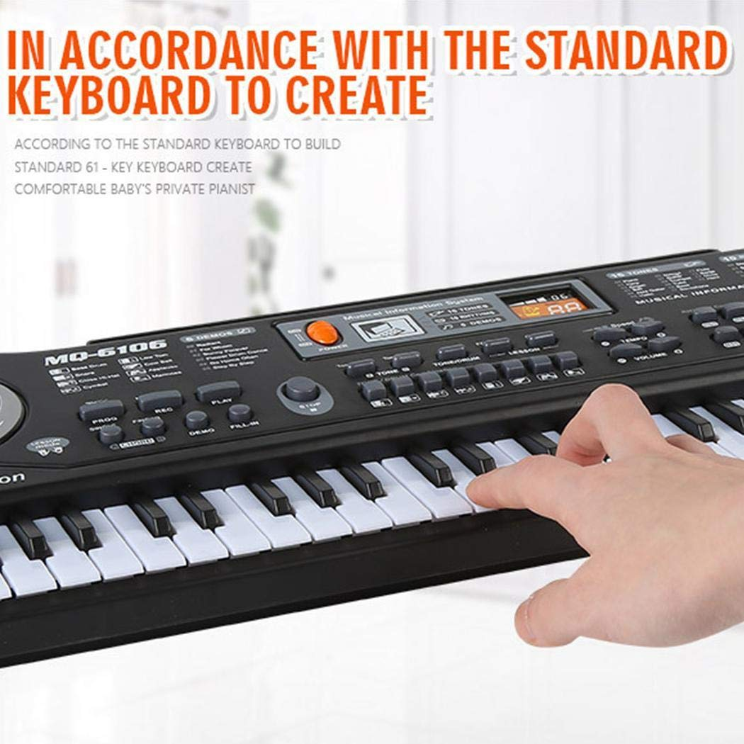 melysUS Baby Music Instruments Electronic Keyboard Piano Kids Learning Toys with Mic Pianos & Keyboards