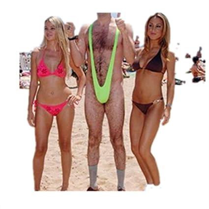 04fea340e42a Desconocido Genérico Sexy Borat Mankini Traje de Bañador para Hombre ...