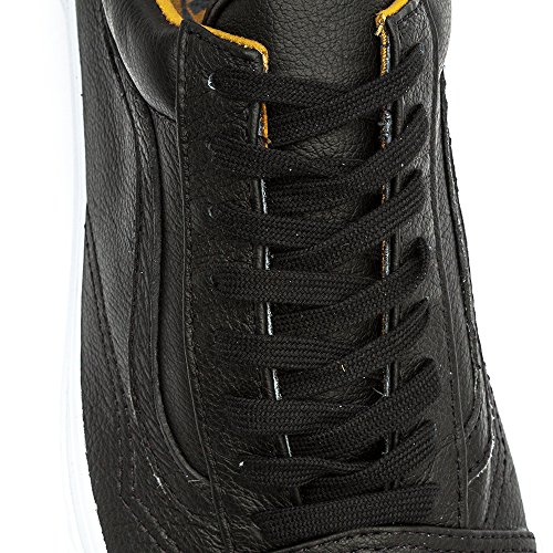 Vans Unisex (Premium Leder) Old Skool Black Skate Schuhe Schwarz