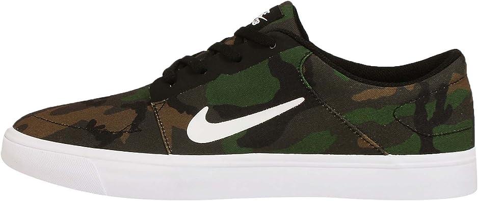 Nike SB Portmore Canvas Mens Trainers 723874 Sneakers Shoes (UK 7 US 8 EU 41, Black White 011)