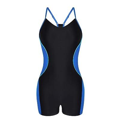 BeautyIn Women's One Piece Swimsuit Boyleg Lap Bathing Suit Pro Swimwear: Clothing
