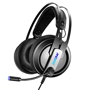 Auriculares Cascos Gaming con Micrófono PC, Mpow Cascos Gaming de 7.1 Sonido con Cancelación de Ruido, Cascos con Micrófono LED, Sonido Envolvemente Bajo, ...