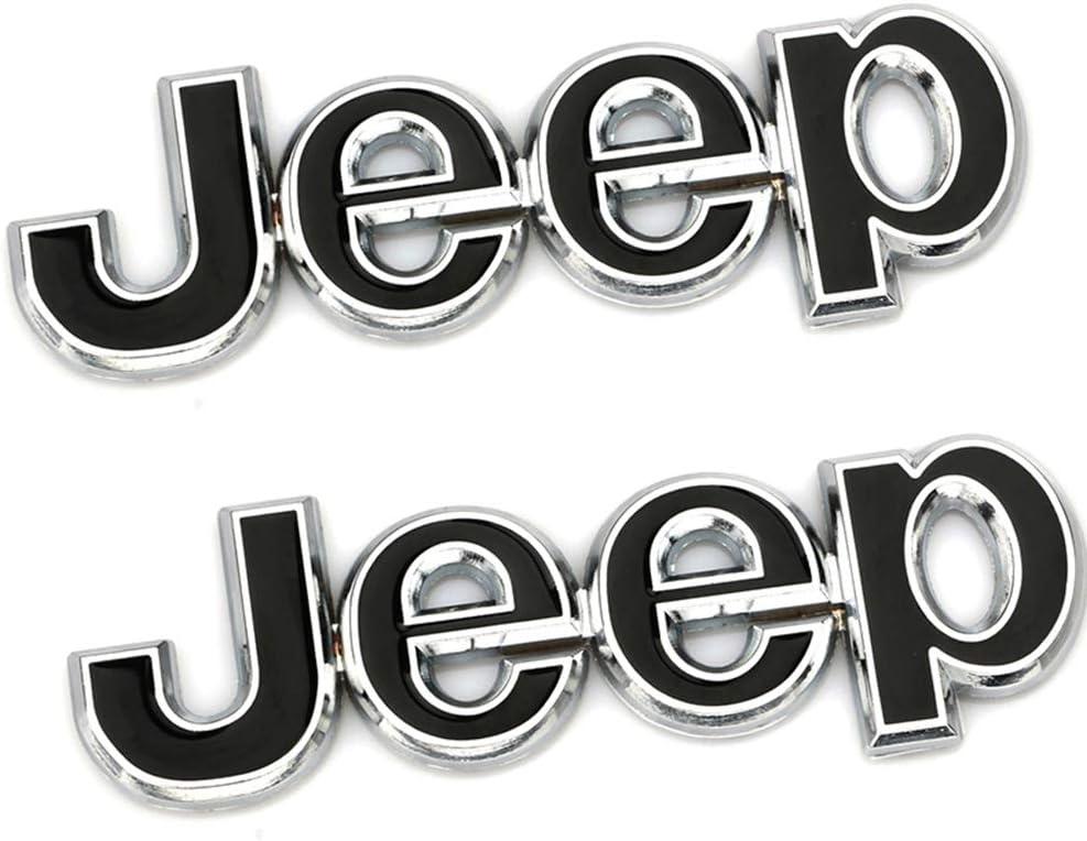 XCBW Pegatina Emblema del Logotipo del Frente del Coche para J-eep Wrangler Tj Jk Jl Grand Cherokee Commander Renegade Liberty Compass Montaje de Accesorios,Dorado