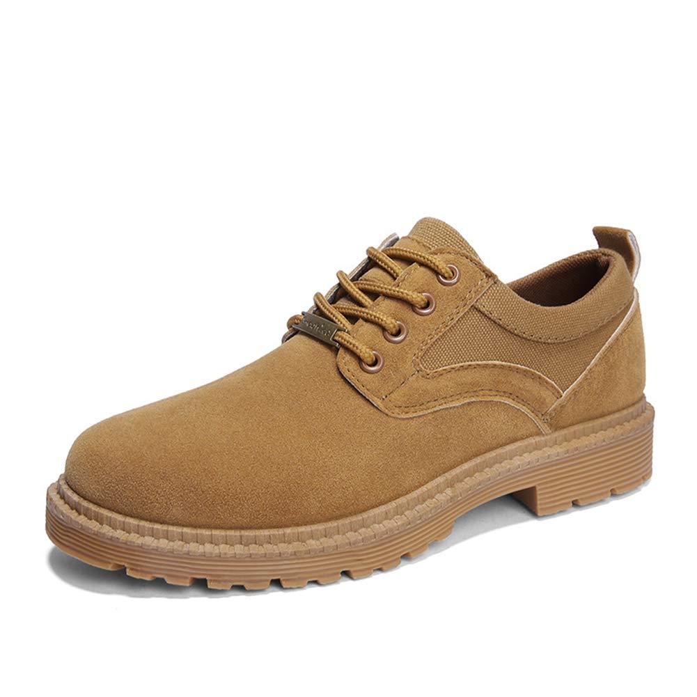 Herrenschuhe, Herbst-Trend-Werkzeugschuhe Martin Schuhe Fashion Outdoor Leisure Schuhe Round Head Lace-Top Work Schuhe,B,41