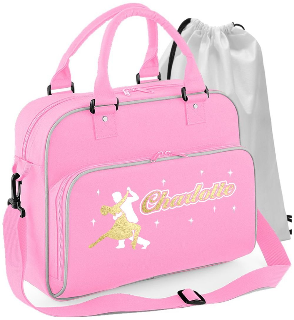 MusicaliTee Ballroom Dancer - Dancing Couple - Personalised Custom Dance Bag & Drawstring Shoe Backpack