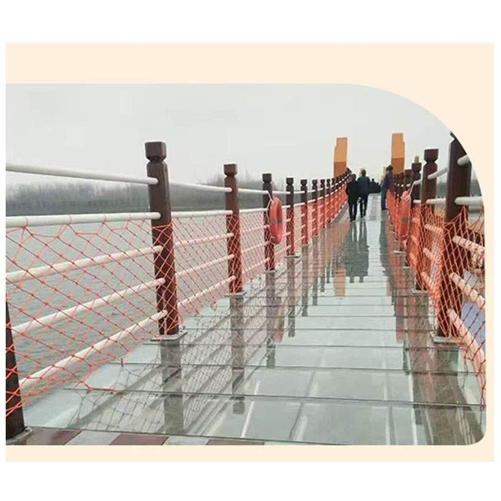 3 * 3ft Nylon Rope Protection Net Balcony Net Size : 1 * 1m Child and Baby Anti-Fall Net Cat Net Kindergarten Stair Decoration Net 2x3m 5m Safety Net