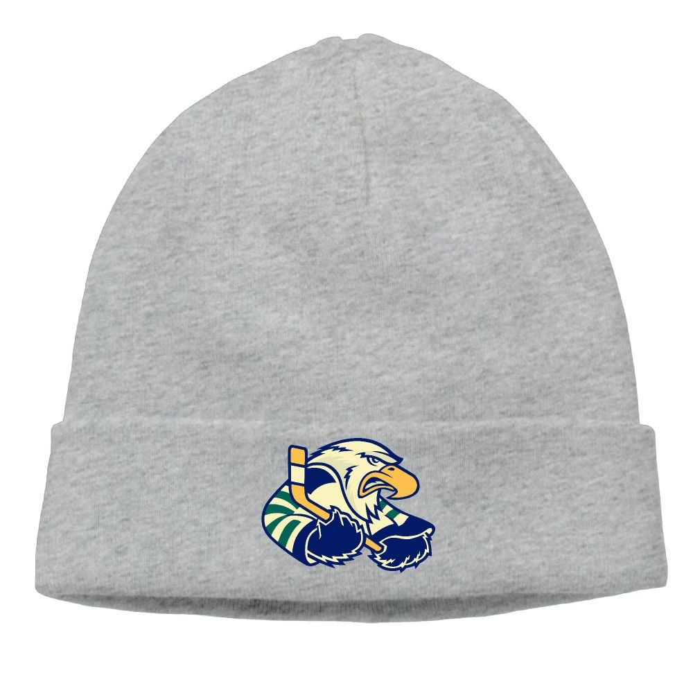 Eagles Fan Beanie Hats Eagle Playing Ice Hockey With Stick Cable Knit Skull  Caps Thick Soft   Warm Winter Beanie Hats For Women   Men Cotton Hat Unisex  Cap c2510b1ced9