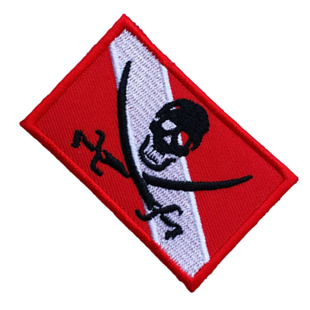 PVC Diver Down Flag Parche De Insignia D DOLITY Scuba Diving Dive Flag Bordado De Hierro//Coser Patch Duradero Y De Larga Duraci/ón