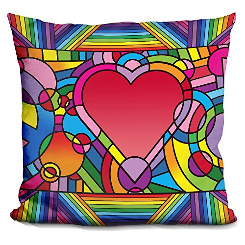 LiLiPi Peace Love Music B Decorative Accent Throw Pillow (Pillows Love Peace)