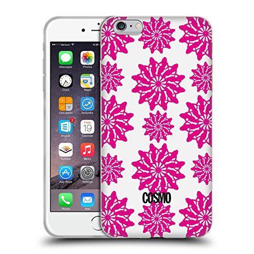 Official Cosmopolitan White And Pink Floral Patterns Soft Gel Case for Apple iPhone 6 Plus / 6s Plus