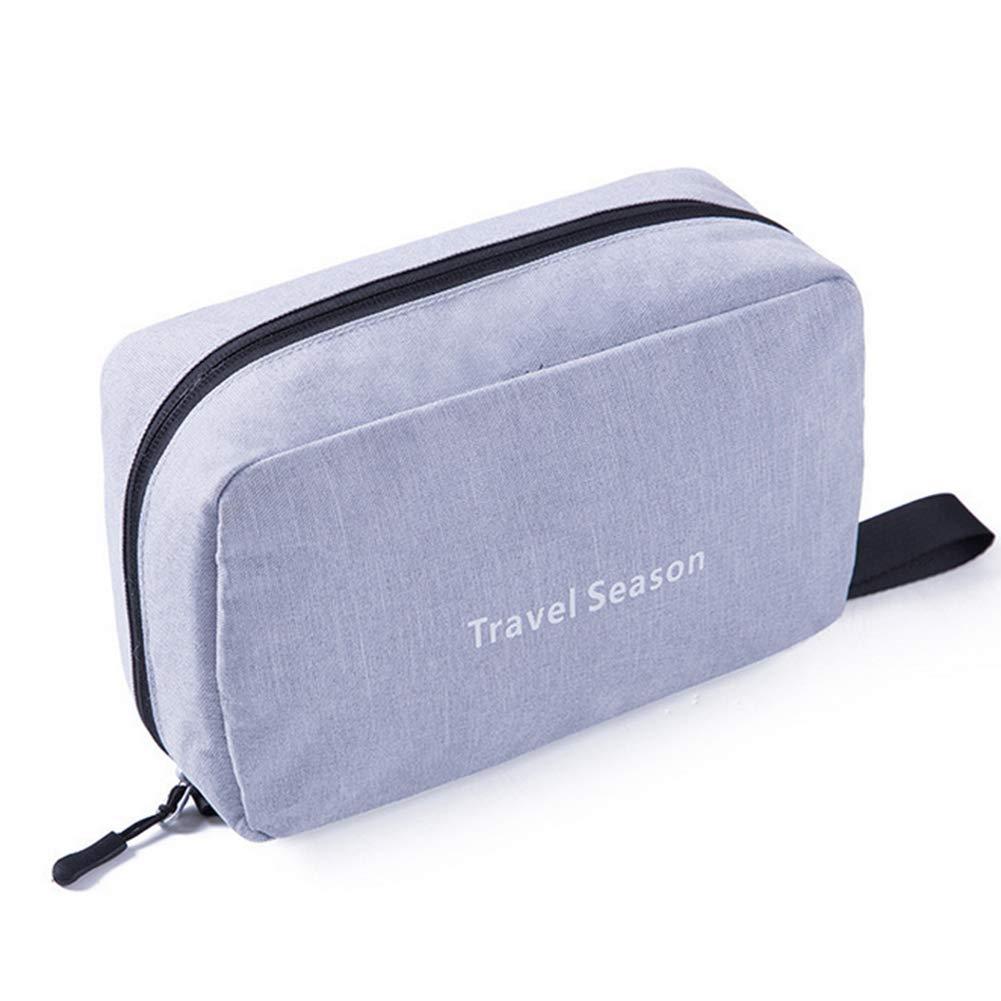 9400aa633 Colgando Neceser portátil maquillaje cosmético del bolso del recorrido del  bolso del organizador con la manija para la Mujer (azul oscuro): Amazon.es:  ...