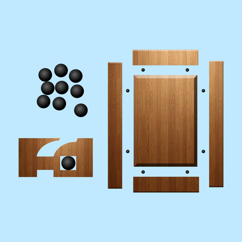 amazon com space balls raised panel cabinet door spacers for 1 4 rh amazon com Cabinet Door Panel Designs rubber spaceballs for cabinet doors