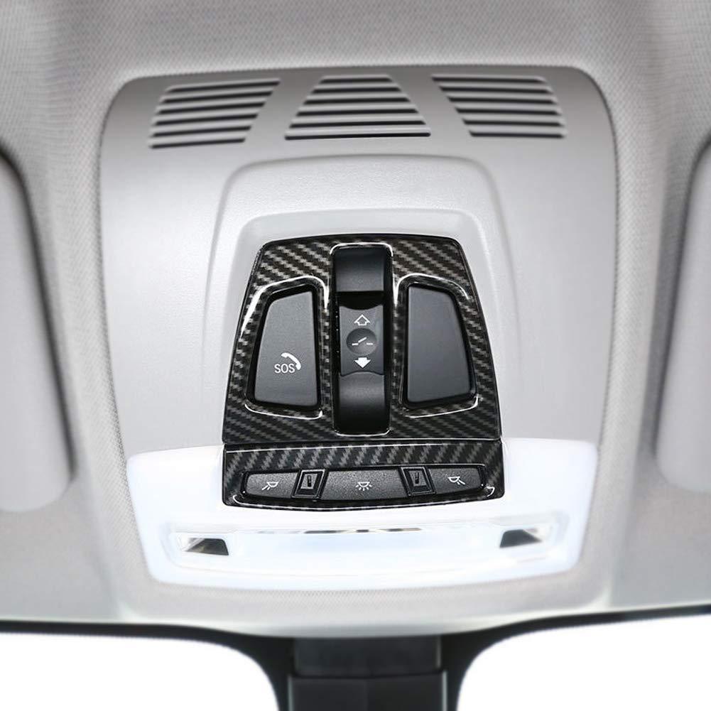 Cuque 2 Pcs Carbon Fiber Front Reading Light Panel Cover Trim for 3 Series F30 2013-2018 GT F34 2014-2018 X1 F48 2016-2018 X2 F39 2018 X5 F15 2014-2018 X6 F16 2015-2018