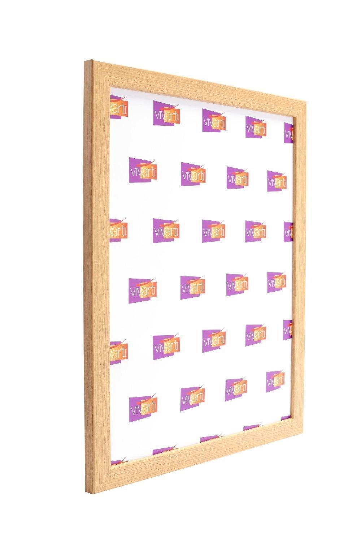 Oak finish light wood ready made picture frame a1 size 594 x 84 oak finish light wood ready made picture frame a1 size 594 x 84 cm amazon kitchen home jeuxipadfo Gallery