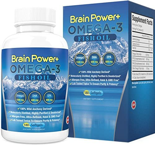 Amazon.com: Omega 3 Fish Oil Burpless | 2200 mg Per Serving, 800 mg EPA, 600 mg DHA - 1500 mg Total Omega-3 - Triple Strength Pharmaceutical Grade Liquid Softgel Capsules - 180 Count - Full 90 Day Supply: Health & Personal Care
