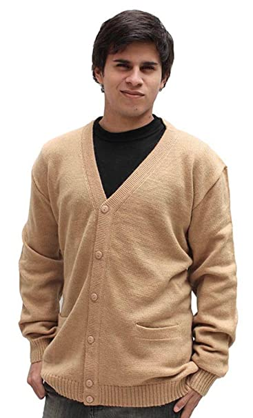 Amazon.com: Mens lana de alpaca Golf chaqueta de punto ...