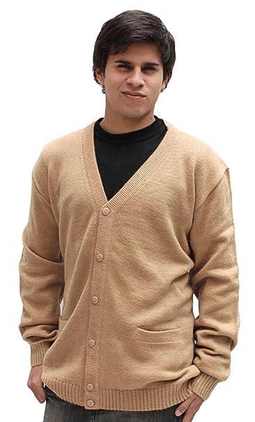 Amazon.com: Mens lana de alpaca Golf chaqueta de punto ...
