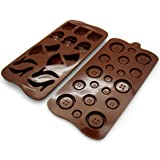 kilofly Silicone Chocolate Mold Tray Pack [Set of