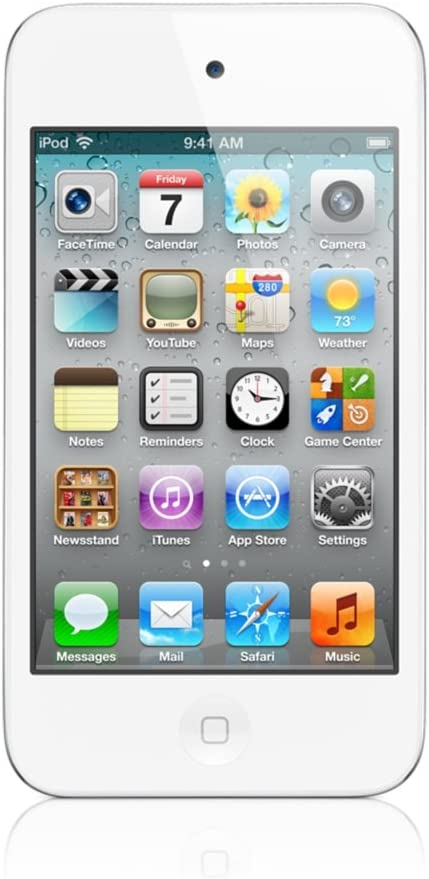 Apple iPod Touch 16GB White Model ME179LL/A (4th Generation) (Discontinued by Manufacturer) (Renewed)