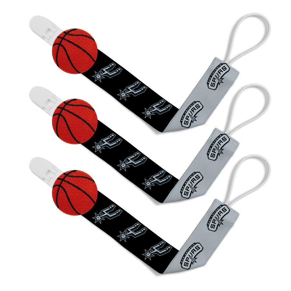Baby Fanatic NBA San Antonio Spurs Unisex SAS313Pacifier Clip (3 Pack) - San Antonio Spurs, See Description, See Description by Baby Fanatic