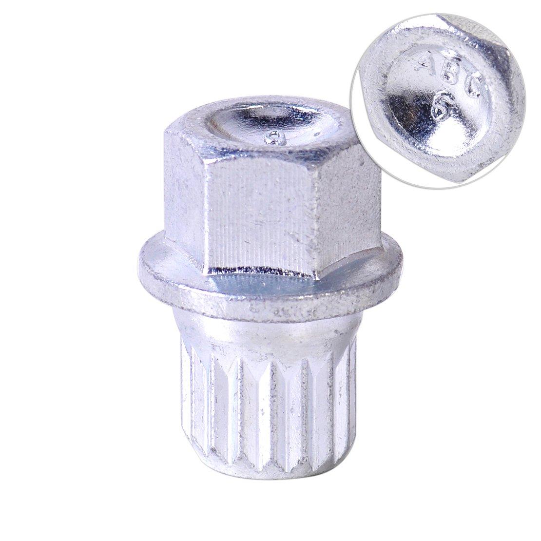 beler 17mm Antitheft Wheel Bolt Lock Nut Cap 8D0601139F 8D0 601 139F 006 Fit for VW Golf Jetta Beetle Passat Audi (Fulfilled by hermeshine) by beler (Image #5)