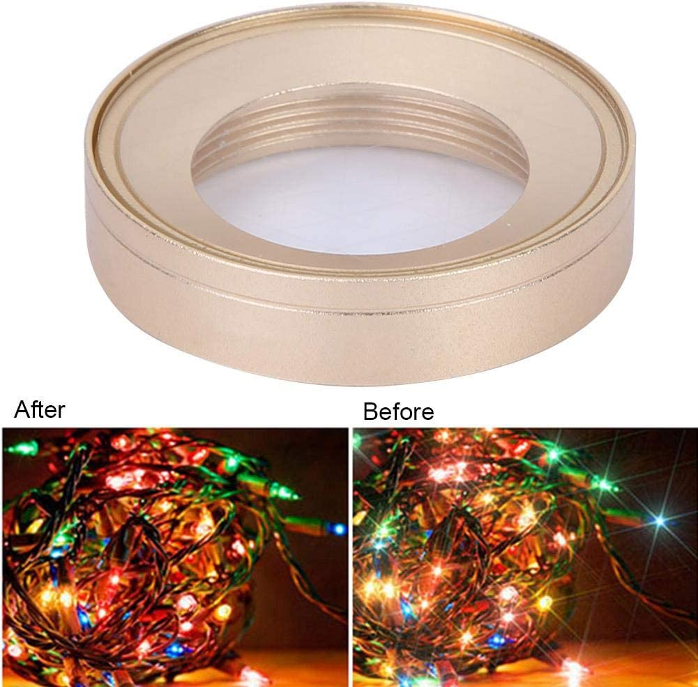 Star Effect Filter,Portable Durable Night Shooting Ultra-Thin Mini Sports Camera Star Effect Lens Filter for OSMO Action Camera