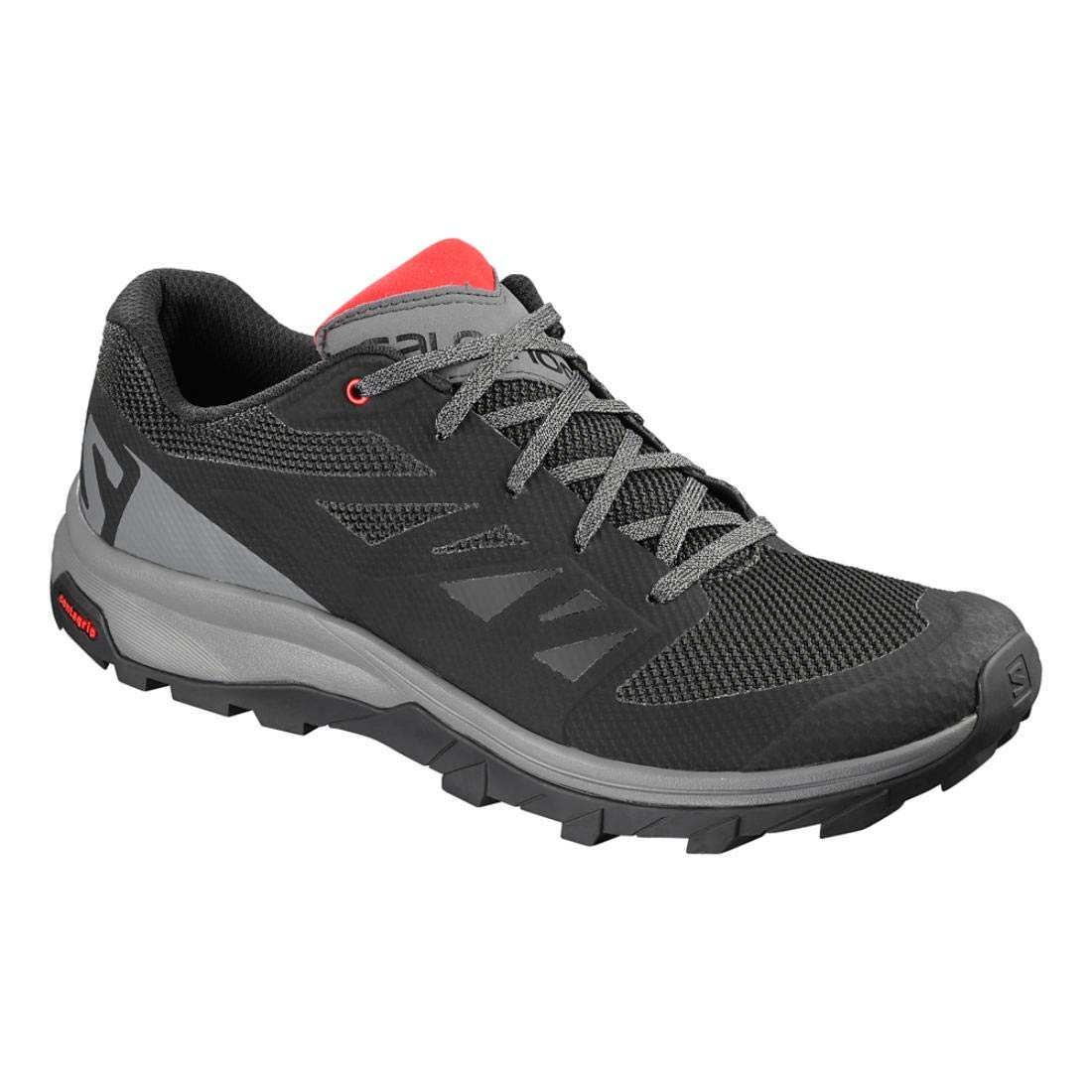 Salomon Outline - Chaussures Randonnée Homme fonc?/rouge 46 2/3|noir/gris fonc?/rouge Homme vif 1ba787