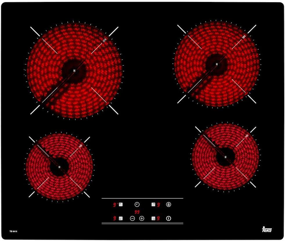 Placa de vitrocerámica TB 641540239042 de Teka - 4,60cm/Sensor Control