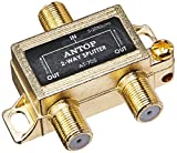 ANTOP Coaxial Cable Splitter Ultra Mini Distribution for Satellite TV Antenna Signals 2GHz- 5-2050MHz (AT-705)