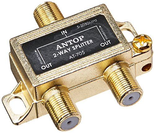 ANTOP Coaxial Cable Splitter Ultra Mini Distribution for Satellite TV Antenna Signals 2GHz- 5-2050MHz (AT-705) ()