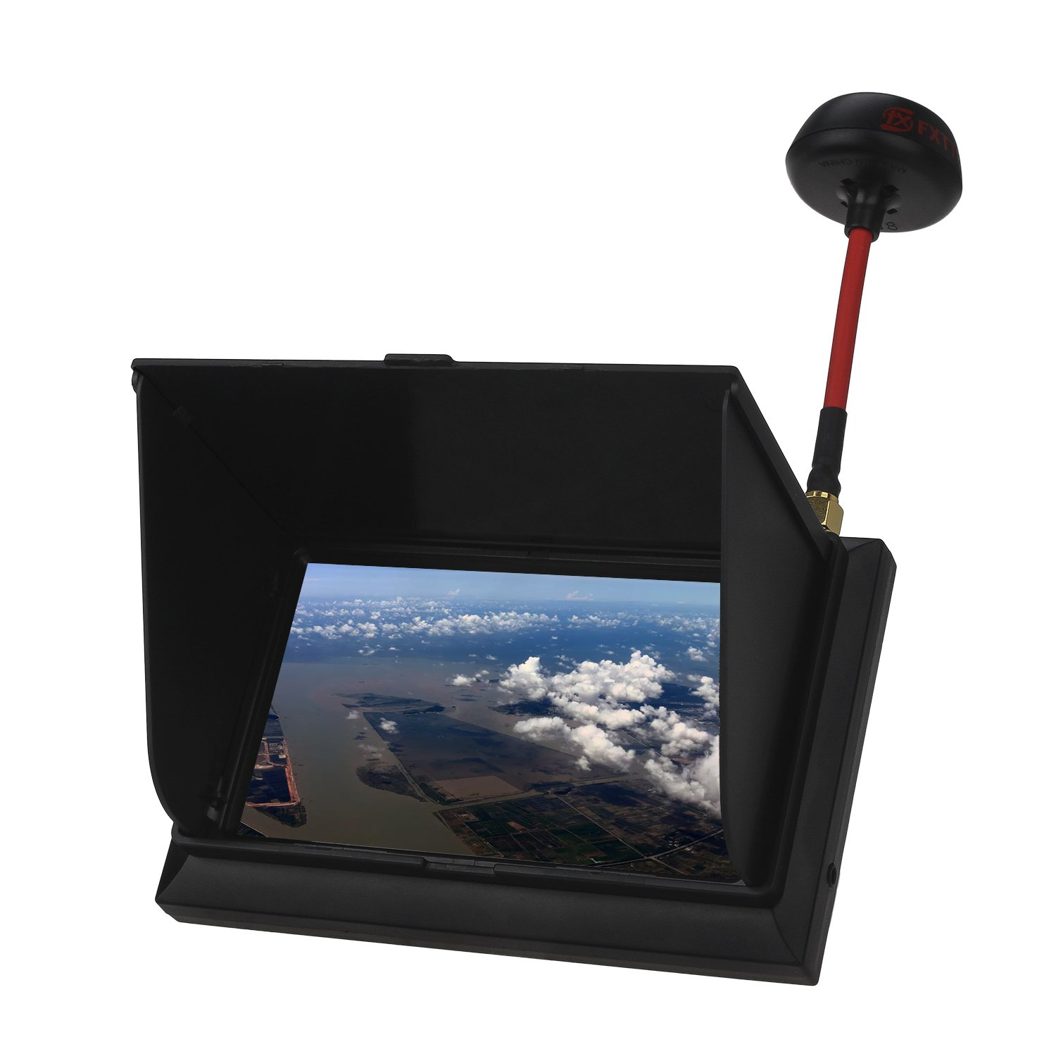 TOMLOV FPV Monitor Wireless Receiver 4.3'' LCD AV Display Screen 500cd/m2 High Bright 5.8G 32Ch with Sun Hood for RC FPV Quadcopter Drone by TOMLOV