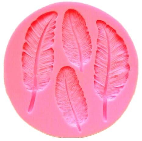 Beautytoppicks - Molde de Silicona de Plumas para Decoración de Fondant/Chocolate/Azúcar,