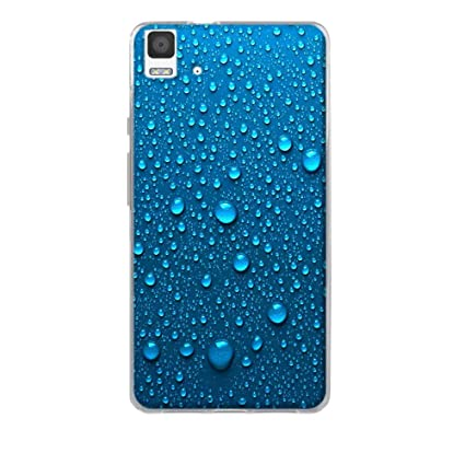 FUBAODA bq Aquaris E5 4G Case, [Gotas de Agua Azul] BQ Aquaris E5 4G Funda Carcasa Silicona Gel Case Ultra Delgado TPU Goma Flexible Cover Protectora ...