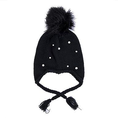 0385f45b1ea Mornbaby Infant Winter Warm Pearl Crochet Knit Hat Toddler Girl Boy Baby  Beanie Cap 0-