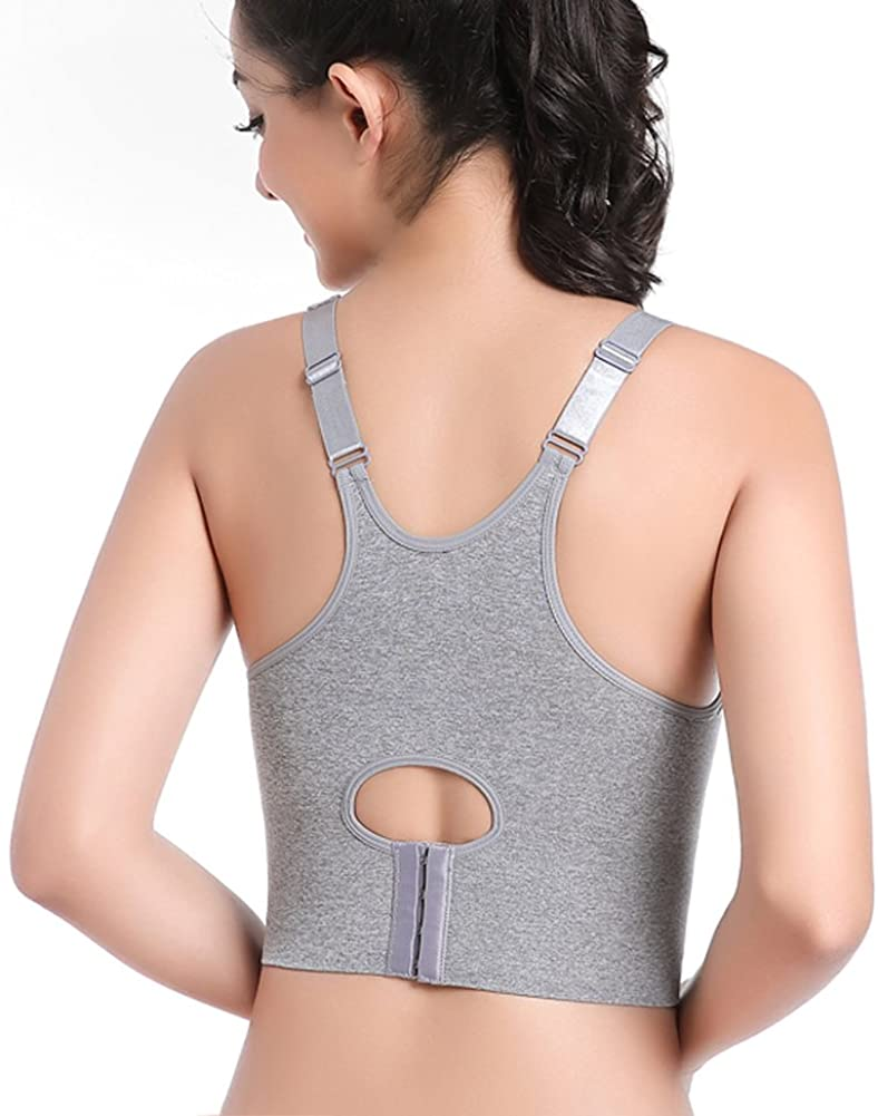TQP-CK Wireless Supportive Sports Bra Top Push up with Fixed Pad