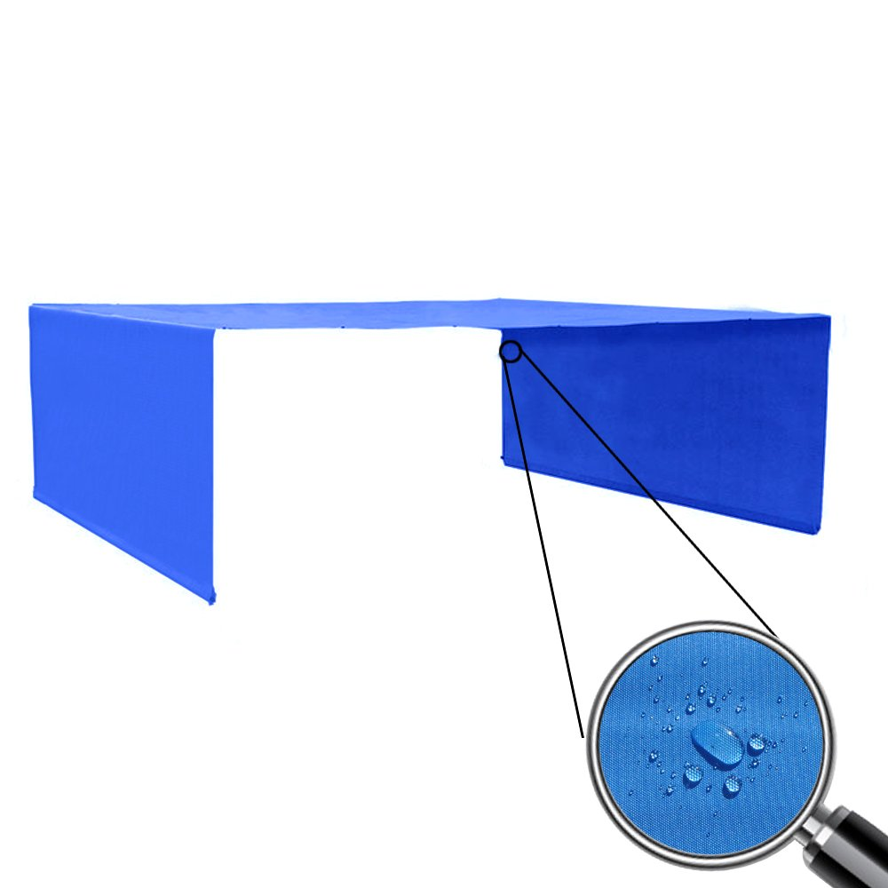 Alion Home Custom Sizes Rod Pocket Waterproof Universal Replacement Shade Canopy Top Cover for Pergola (16' x10', Royal Blue)
