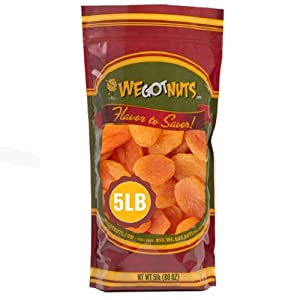 We Got Nuts Dried Turkish Apricots in Resalable Bag, 5 Lbs
