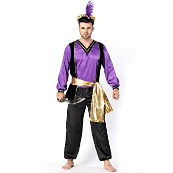Amazon.com: YRE Mens Arabic Costume, Monarch Role-Playing ...